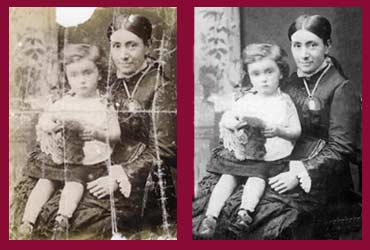 pictorium monkstown dublin photo restoration photo retouching photo ediitng torn damaged faded creased print canvas photo frame