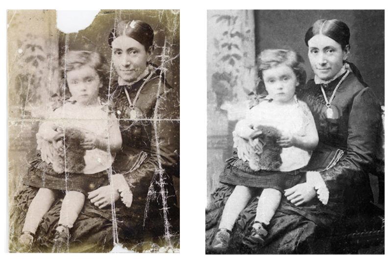 Pictorium photoshop monkstown dublin photo restoration editing digital manipulation retouching damaged stained