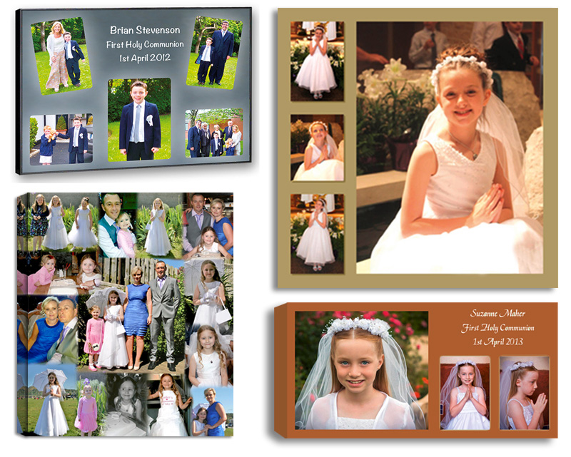 Attractive Communion Confirmation Photos And Photo Collages Designed And Printed On  Canvas, Framed, Float Frame
