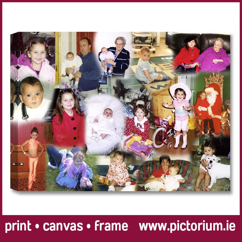 BIRTHDAY PHOTO COLLAGE Blend Collage Print Canvas Framed Pictorium Photoshop Monkstown Dublin We Design