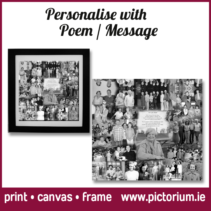 Mums Photo Collage with Poem - The Pictorium Dublin Photo Printing ...