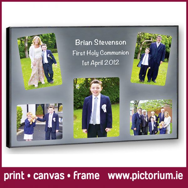1st HOLY COMMUNION PHOTO COLLAGE Random Photo Collage with dates. Print, Canvas Framed. Photo collages designed and printed at Pictorium Photoshop Monkstown Dublin. Canvas Printed Framed Block Float Frame. Amazing reviews. Shop in Monkstown Minutes from Foxrock, Killiney, Glenageary, Deansgrange, Corneslcourt, Blackrock & Dun Laoghaire (01) 2846106