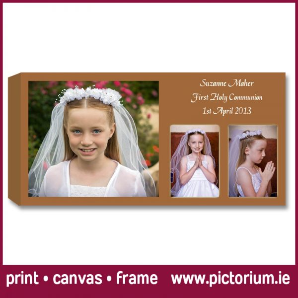we design print communion confirmation photo collages pictorium monkstown dublin canvas photo frame float frame communion girl inset photo