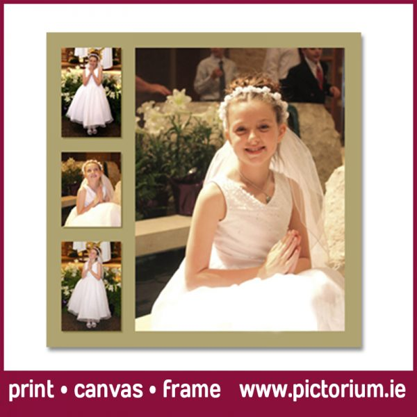 COMMUNION/CONFIRMATION PHOTO COLLAGE Inset Photos. Print, Canvas Framed. Pictorium Photoshop Monkstown Dublin We Design and Print Personalised Photo Collages. Unique designs. Canvas, Printed, Framed, Block Float, Frame. Delivered all around Ireland. Communion Confirmation Bedroom Wall Art