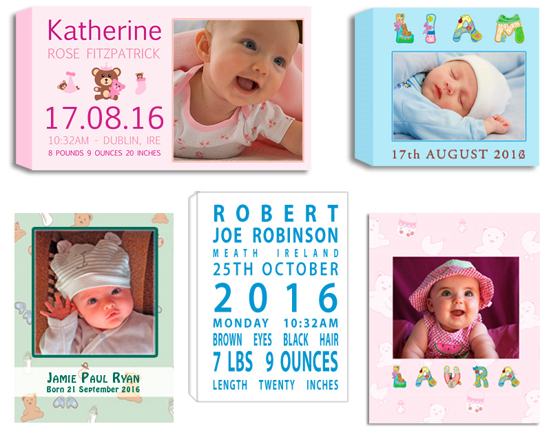 Baby Born Photo Art Nursery Art Gift Ideas photos and Photo Collages designed and printed on Canvas, Framed, Float Frame, Block. Digital Alterations Editing and Retouching Photo Printing Pictorium Photoshop Monkstown Dublin Photo Gift Ideas Gift Vouchers